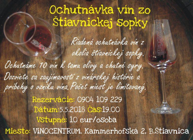 Ochutnávka vín zo štiavnickej sopky